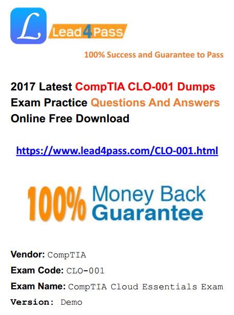 CLO-001 dumps